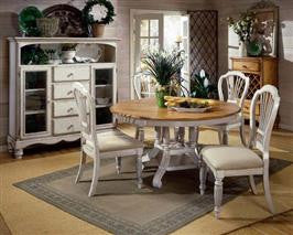 Hillsdale - Wilshire 5pc Round Dining Set Antique White