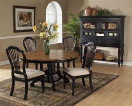 Hillsdale - Wilshire 5pc Round Dining Set Rubbed Black