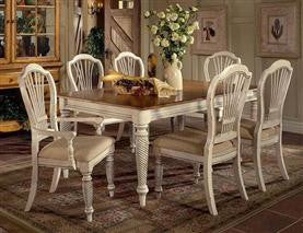 Hillsdale - Wilshire 7pc Rectangle Dining Set Antique White