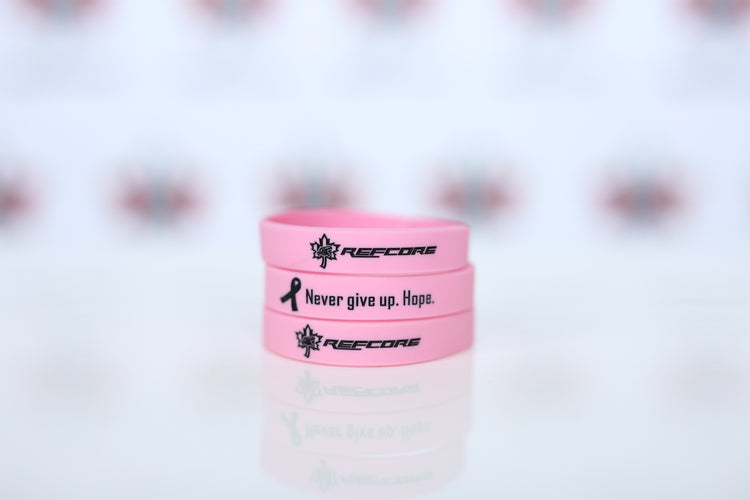 REFcore™ Silicone Bracelet - Breast Cancer Awareness