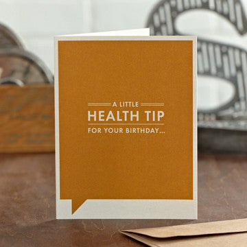 A Little Health Tip Greeting Card