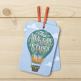 The Adventure Starts Here Gift Tag