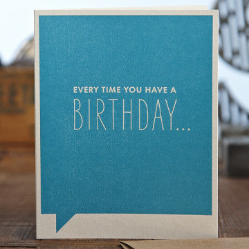Every Time You Have A Birthday Greeting Card