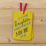 It's A Far Brighter World Gift Tag