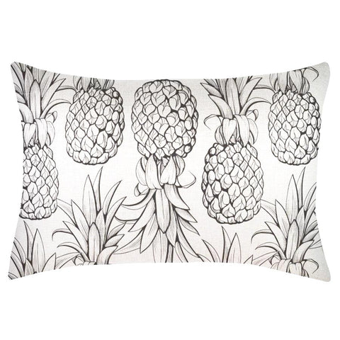Monochrome Pineapple Indoor/Outdoor Cushion Cover
