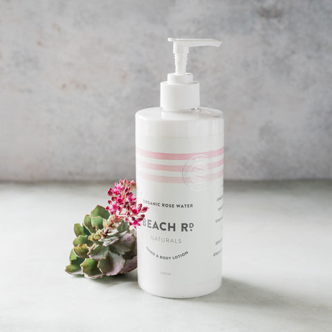 Organic Rose Water Hand & Body Lotion