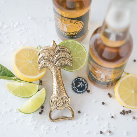 Brass Palm Bottle Opener