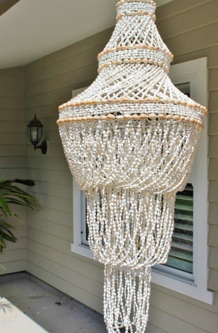 Tiered shell chandelier aloadofball Choice Image