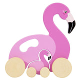 Sunnylife Flamingo Push n Pull Toy