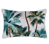 Palm Trees on White Cushion