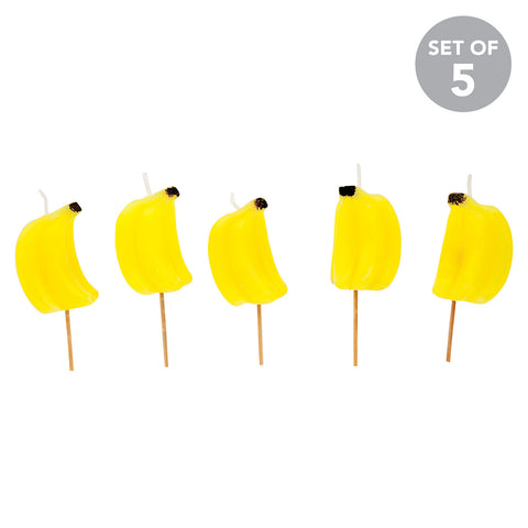 Sunnylife Banana Cake Candles - Set of 5