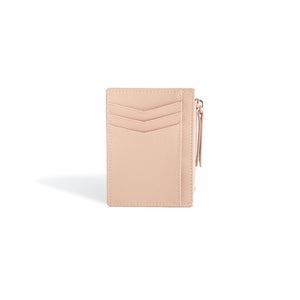 Card Holder Wallet for Women Blush Leather