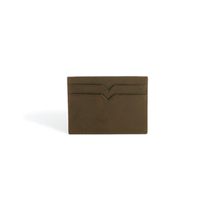 Credit Card Wallet Brown Leather