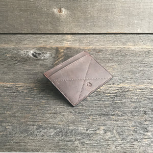 Card Holder Wallet Brown Leather