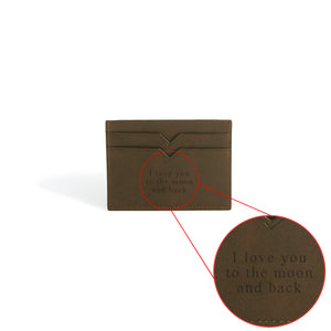 Custom Wallets Engraved Love you to the moon and back by DVGNT