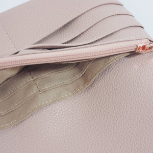 Long Womens Wallet Blush Leather