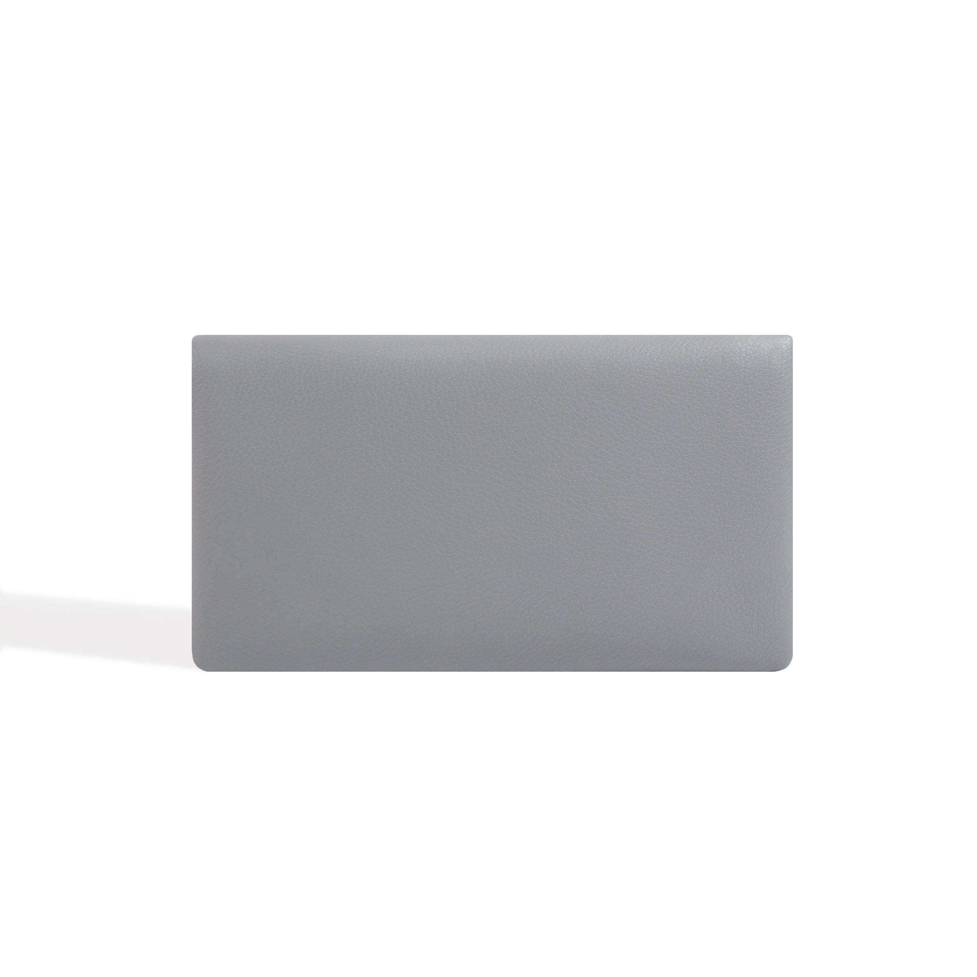 Long Wallet for Women Gray Leather