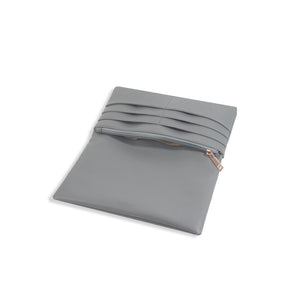 Long Wallets for Women Gray Leather