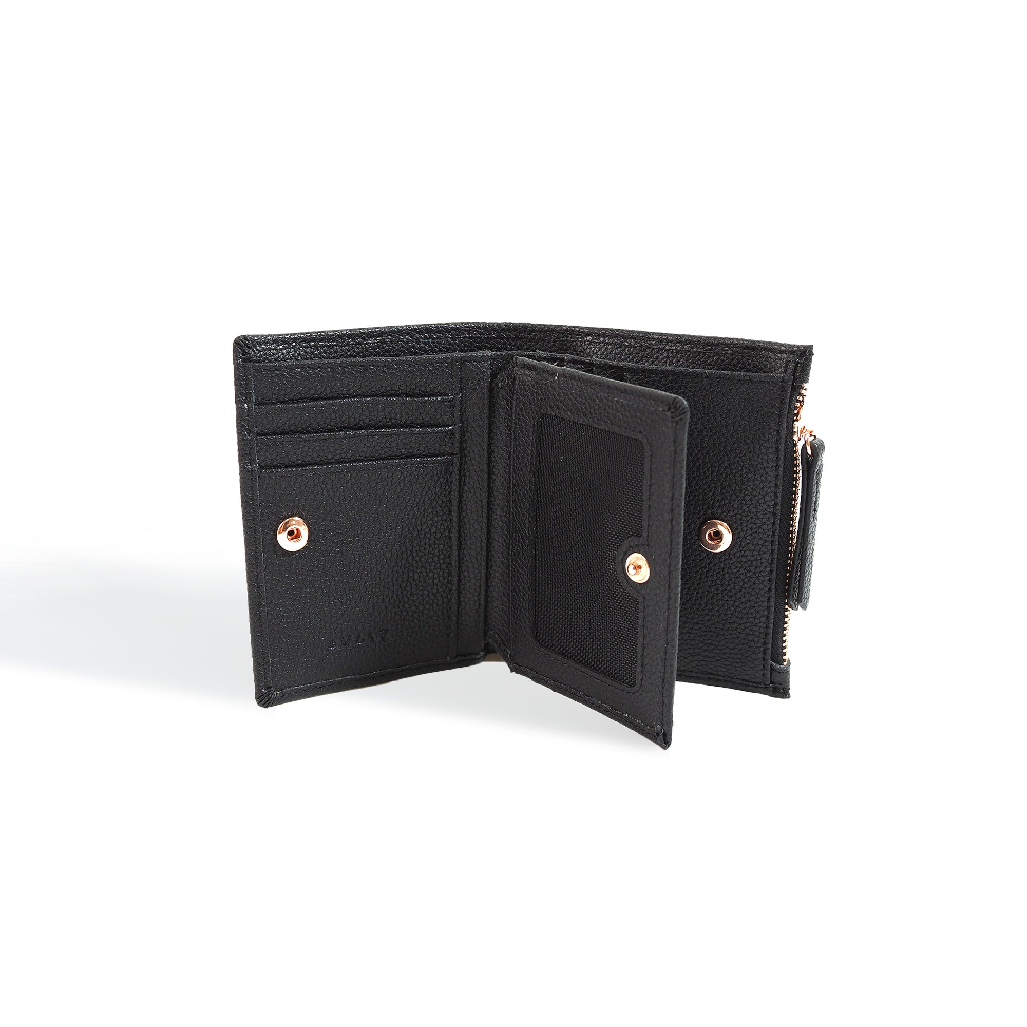 Small Wallet Black and Rose Gold