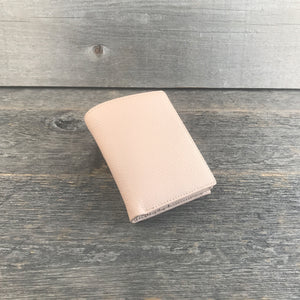 Mini Wallets for Women Blush Leather