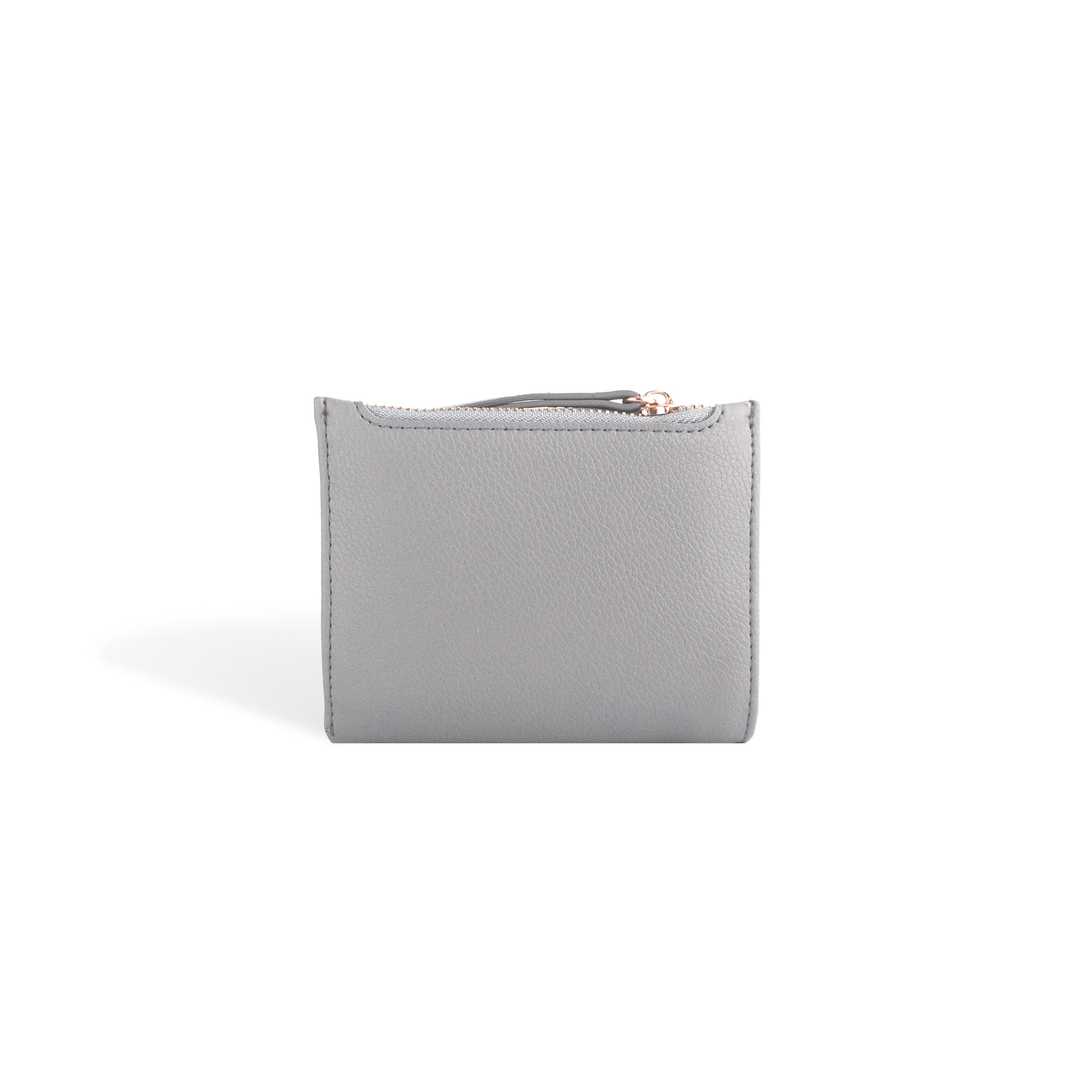 Mini Wallets for Women Gray Leather