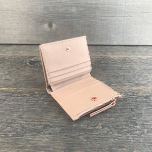 Compact Wallet Blush Leather