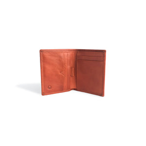Minimalist Wallet for Men Cognac Leather
