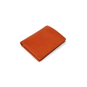 Slim Wallets for Men Cognac Leather