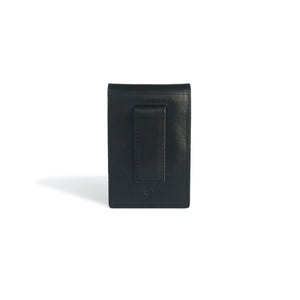 Money Clip Wallet Black Leather