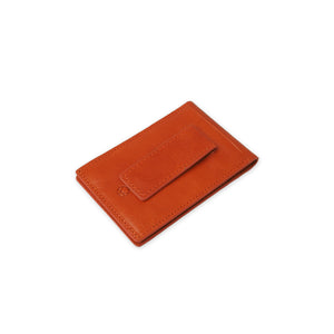 Money Clip Wallet for Men Cognac Leather