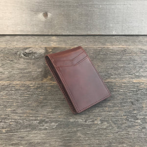 Slim Wallets for Men Whiskey Leather