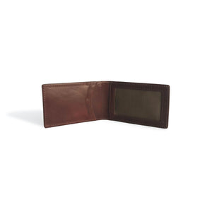 Front Pocket Wallet with Money Clip Whiskey Leather