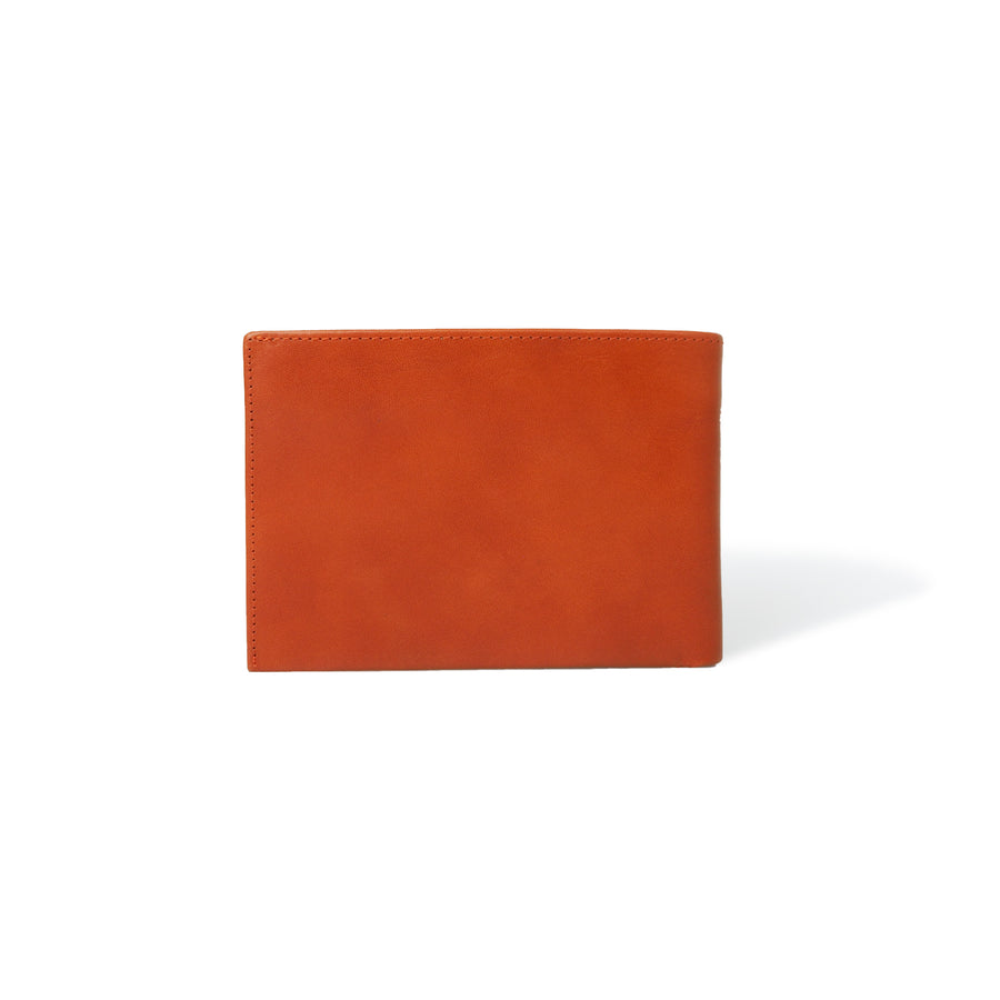 Passport Wallet RFID Cognac Leather