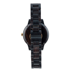 Ebony 18K Gold Plated Minimalist Wooden Watch - The Havasu Back View