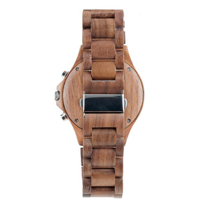Walnutwood Chronograph Wooden Watch - The West Coaster Back View