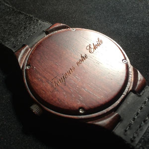 Minimalist Wood Watch | The Hawk Dark Sandalwood + Gunmetal