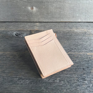 Ladies Card Holder Wallet Blush Leather