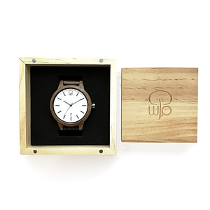 Wood Watch Box Gift - The Seljalandsfoss Minimalist Wood Watch Swiss Movement Packaging