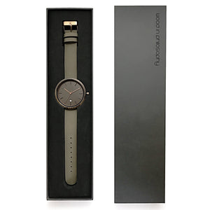 Wood Watch Leather Band Black Gift Box - The Peak Minimalist Wood Watch Rose Gold Packaging