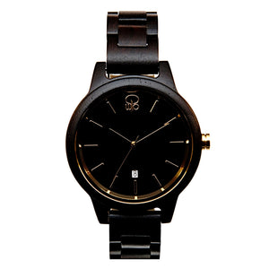 Black and Gold Watch - The Havasu Front View