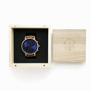 Wood Watch Box Gift - The McWay Wooden Watch Minimalist Chrono Packaging