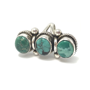 sterling silver turquoise chunky ring