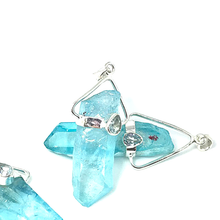Load image into Gallery viewer, aqua aura sterling silver pendant