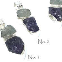 Load image into Gallery viewer, Aquamarine Amethyst Pendant Set In Sterling Silver - Quirky Pieces