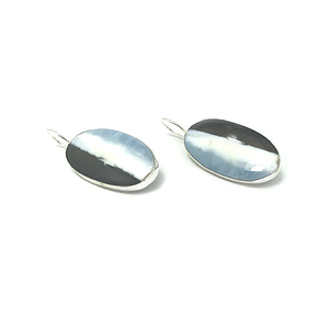 agate gemstone sterling silver earrings