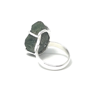 raw agate ring set in sterling silver australia