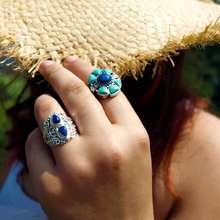 Load image into Gallery viewer, Bluebell Lapis Lazuli Gypsy Ring