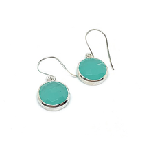 Load image into Gallery viewer, aquamarine sterling silver gemstone earrings