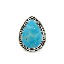 Load image into Gallery viewer, kingman arizona turquoise silver ring