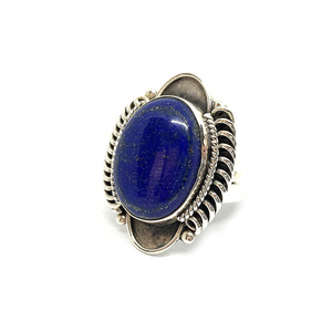 big boho gypsy style sterling silver lapis lazuli gemstone ring